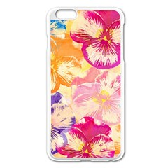 Colorful Pansies Field Apple Iphone 6 Plus/6s Plus Enamel White Case by DanaeStudio
