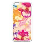 Colorful Pansies Field Apple iPhone 6 Plus/6S Plus Enamel White Case