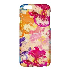 Colorful Pansies Field Apple Iphone 6 Plus/6s Plus Hardshell Case by DanaeStudio