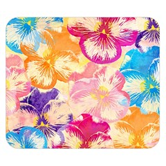 Colorful Pansies Field Double Sided Flano Blanket (Small)