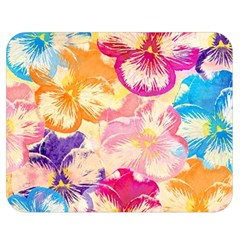 Colorful Pansies Field Double Sided Flano Blanket (Medium)