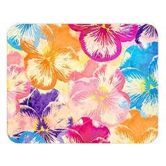 Colorful Pansies Field Double Sided Flano Blanket (Large)