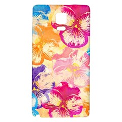 Colorful Pansies Field Galaxy Note 4 Back Case by DanaeStudio