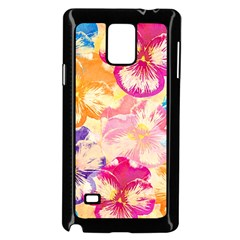 Colorful Pansies Field Samsung Galaxy Note 4 Case (black) by DanaeStudio