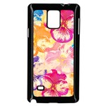 Colorful Pansies Field Samsung Galaxy Note 4 Case (Black)