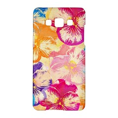 Colorful Pansies Field Samsung Galaxy A5 Hardshell Case  by DanaeStudio
