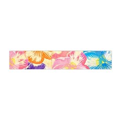 Colorful Pansies Field Flano Scarf (mini) by DanaeStudio