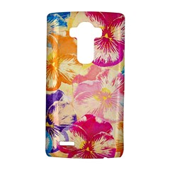 Colorful Pansies Field Lg G4 Hardshell Case by DanaeStudio