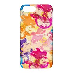 Colorful Pansies Field Apple Iphone 7 Plus Hardshell Case by DanaeStudio