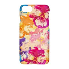 Colorful Pansies Field Apple Iphone 7 Hardshell Case by DanaeStudio