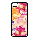Colorful Pansies Field Apple iPhone 7 Seamless Case (Black) Front