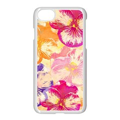 Colorful Pansies Field Apple Iphone 7 Seamless Case (white) by DanaeStudio