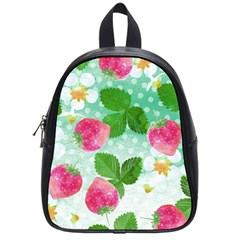 Cute Strawberries Pattern School Bags (small)  by DanaeStudio