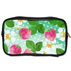 Cute Strawberries Pattern Toiletries Bags 2 Side by DanaeStudio