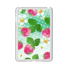 Cute Strawberries Pattern Ipad Mini 2 Enamel Coated Cases by DanaeStudio