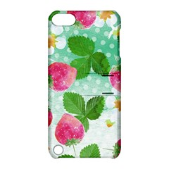 Cute Strawberries Pattern Apple Ipod Touch 5 Hardshell Case With Stand by DanaeStudio