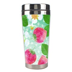 Cute Strawberries Pattern Stainless Steel Travel Tumblers by DanaeStudio