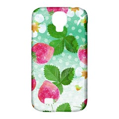 Cute Strawberries Pattern Samsung Galaxy S4 Classic Hardshell Case (pc+silicone) by DanaeStudio