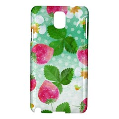 Cute Strawberries Pattern Samsung Galaxy Note 3 N9005 Hardshell Case by DanaeStudio