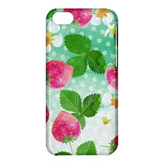 Cute Strawberries Pattern Apple Iphone 5c Hardshell Case by DanaeStudio