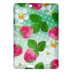 Cute Strawberries Pattern Amazon Kindle Fire Hd (2013) Hardshell Case by DanaeStudio