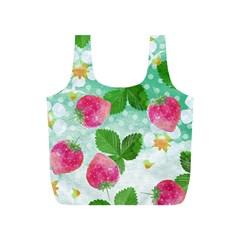 Cute Strawberries Pattern Full Print Recycle Bags (s)  by DanaeStudio