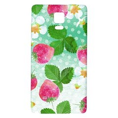 Cute Strawberries Pattern Galaxy Note 4 Back Case by DanaeStudio