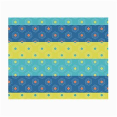 Hexagon And Stripes Pattern Small Glasses Cloth by DanaeStudio