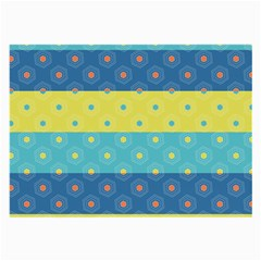 Hexagon And Stripes Pattern Large Glasses Cloth (2 Side) by DanaeStudio