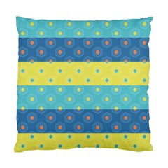 Hexagon And Stripes Pattern Standard Cushion Case (two Sides) by DanaeStudio