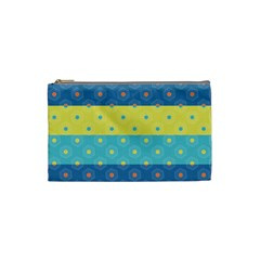 Hexagon And Stripes Pattern Cosmetic Bag (small)  by DanaeStudio