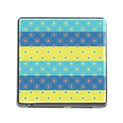Hexagon And Stripes Pattern Memory Card Reader (square) by DanaeStudio