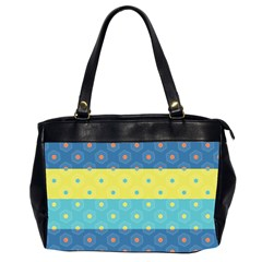 Hexagon And Stripes Pattern Office Handbags (2 Sides)  by DanaeStudio