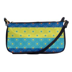 Hexagon And Stripes Pattern Shoulder Clutch Bags by DanaeStudio