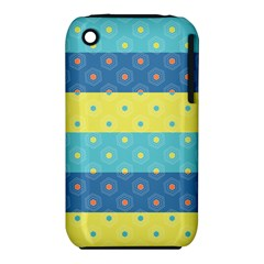 Hexagon And Stripes Pattern Iphone 3s/3gs by DanaeStudio