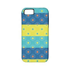 Hexagon And Stripes Pattern Apple Iphone 5 Classic Hardshell Case (pc+silicone) by DanaeStudio