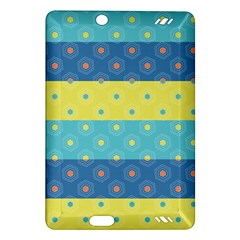 Hexagon And Stripes Pattern Amazon Kindle Fire Hd (2013) Hardshell Case by DanaeStudio