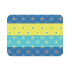 Hexagon And Stripes Pattern Double Sided Flano Blanket (mini)  by DanaeStudio