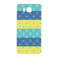 Hexagon And Stripes Pattern Samsung Galaxy Alpha Hardshell Back Case by DanaeStudio