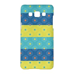 Hexagon And Stripes Pattern Samsung Galaxy A5 Hardshell Case  by DanaeStudio