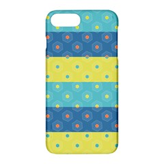 Hexagon And Stripes Pattern Apple Iphone 7 Plus Hardshell Case