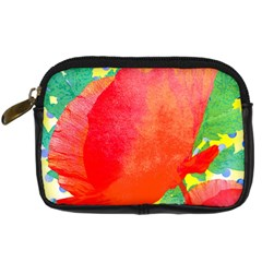 Lovely Red Poppy And Blue Dots Digital Camera Cases by DanaeStudio