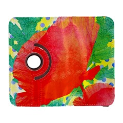 Lovely Red Poppy And Blue Dots Galaxy S3 (flip/folio) by DanaeStudio