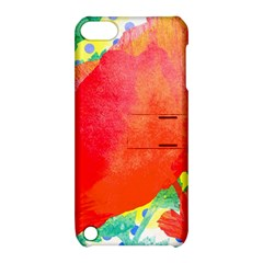 Lovely Red Poppy And Blue Dots Apple Ipod Touch 5 Hardshell Case With Stand by DanaeStudio