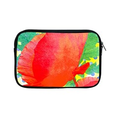Lovely Red Poppy And Blue Dots Apple Ipad Mini Zipper Cases