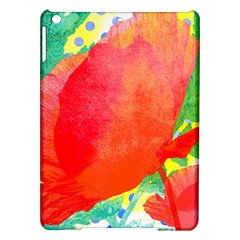 Lovely Red Poppy And Blue Dots Ipad Air Hardshell Cases