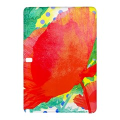 Lovely Red Poppy And Blue Dots Samsung Galaxy Tab Pro 12 2 Hardshell Case by DanaeStudio