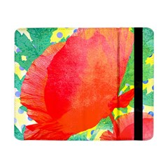 Lovely Red Poppy And Blue Dots Samsung Galaxy Tab Pro 8 4  Flip Case