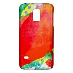 Lovely Red Poppy And Blue Dots Galaxy S5 Mini