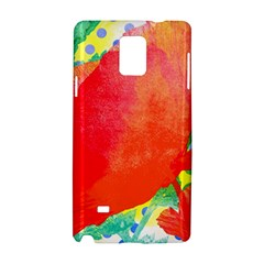 Lovely Red Poppy And Blue Dots Samsung Galaxy Note 4 Hardshell Case